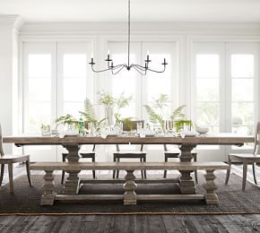 Banks Extending Rectangular Dining Table, Large, Alfresco Brown finish at Pottery Barn - Dining Furniture - Kitchen Tables images