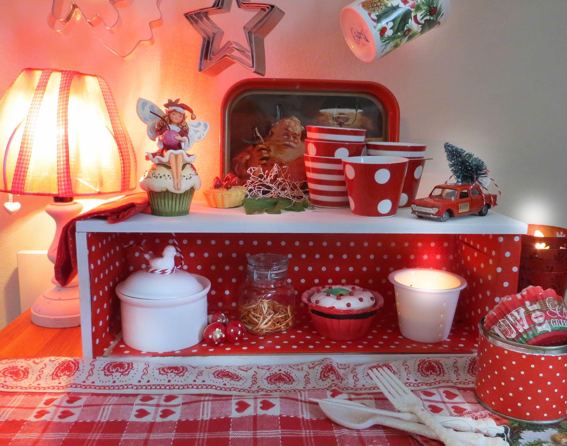 Natale rosso cucina fai da te cassetta vini cucina fai for Decorazioni cucina fai da te