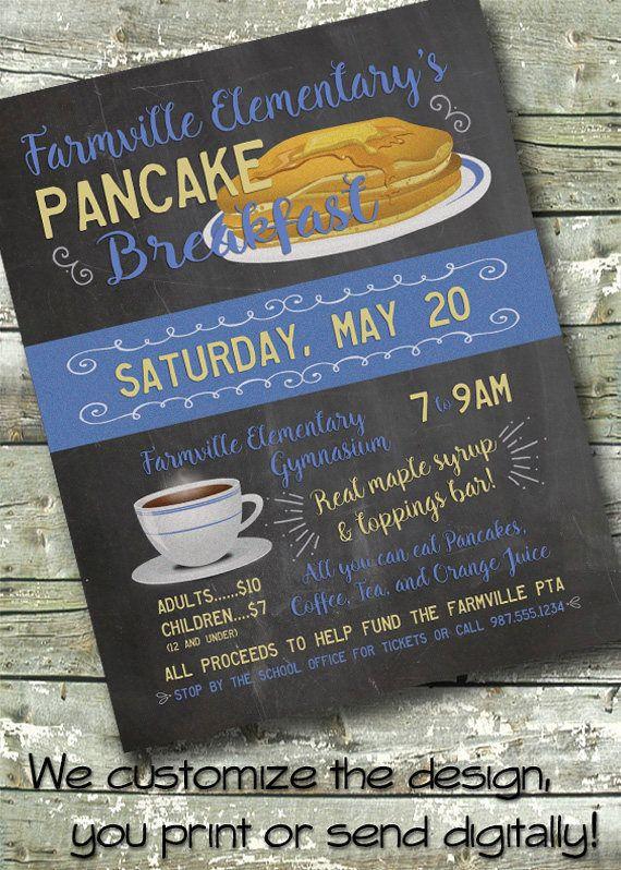Blackboard Pancake Fundraiser  Flapjack Breakfast Benefit  X