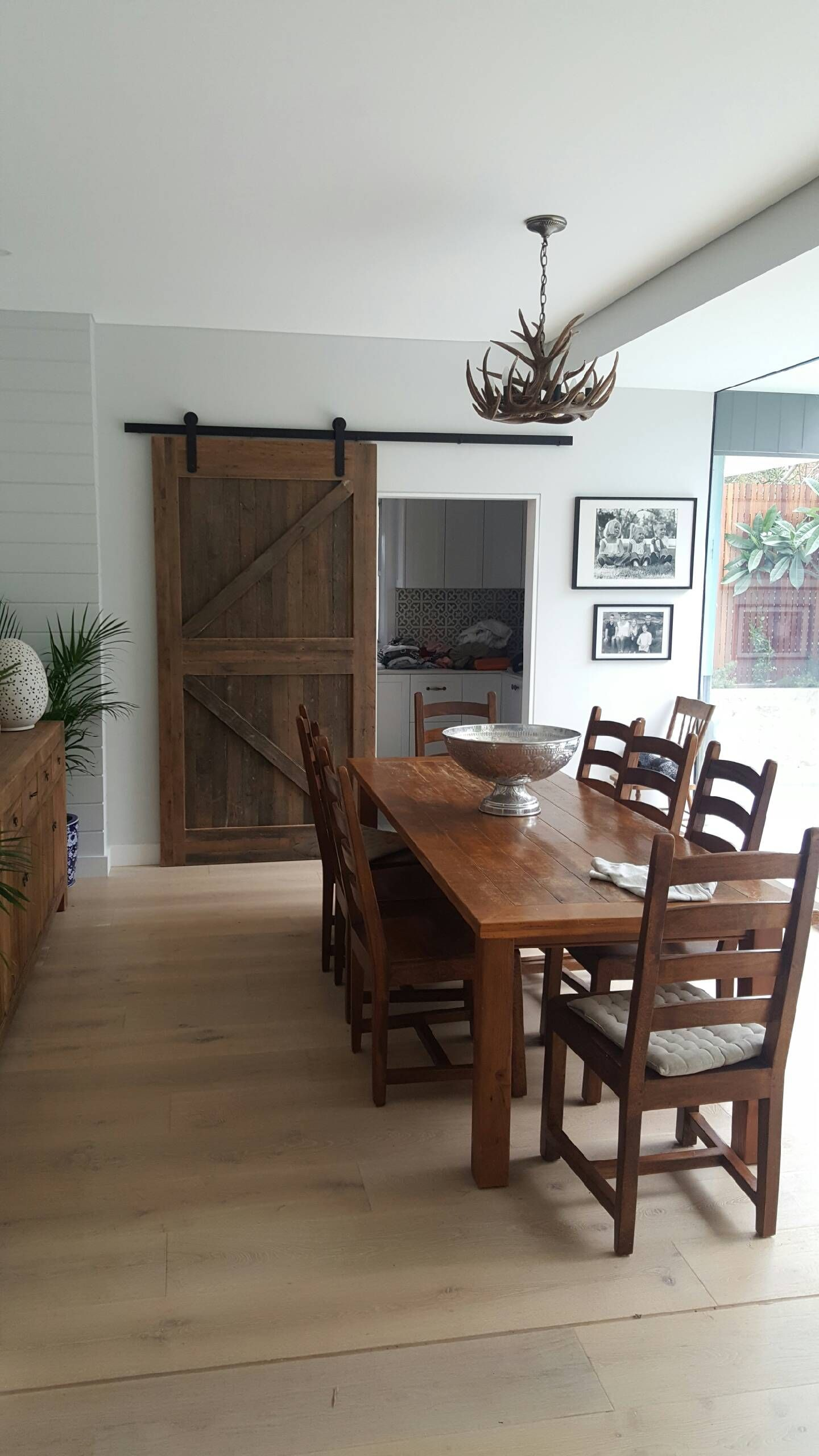 Custom Made Barn Door Using Recycled Timber And Sliding Door