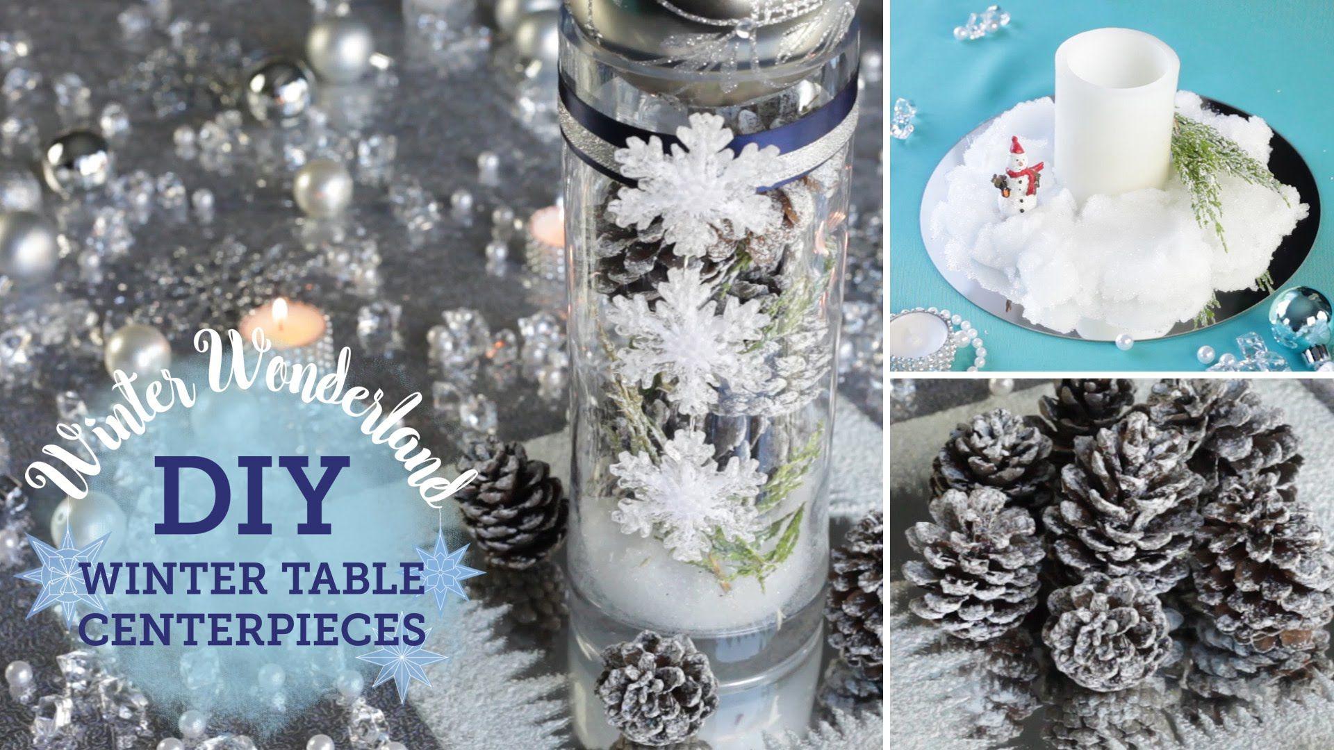 DIY Winter Wonderland: Table Centerpieces (+ fake snow ...