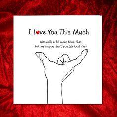Love you this much card - Husband or boyfriend car