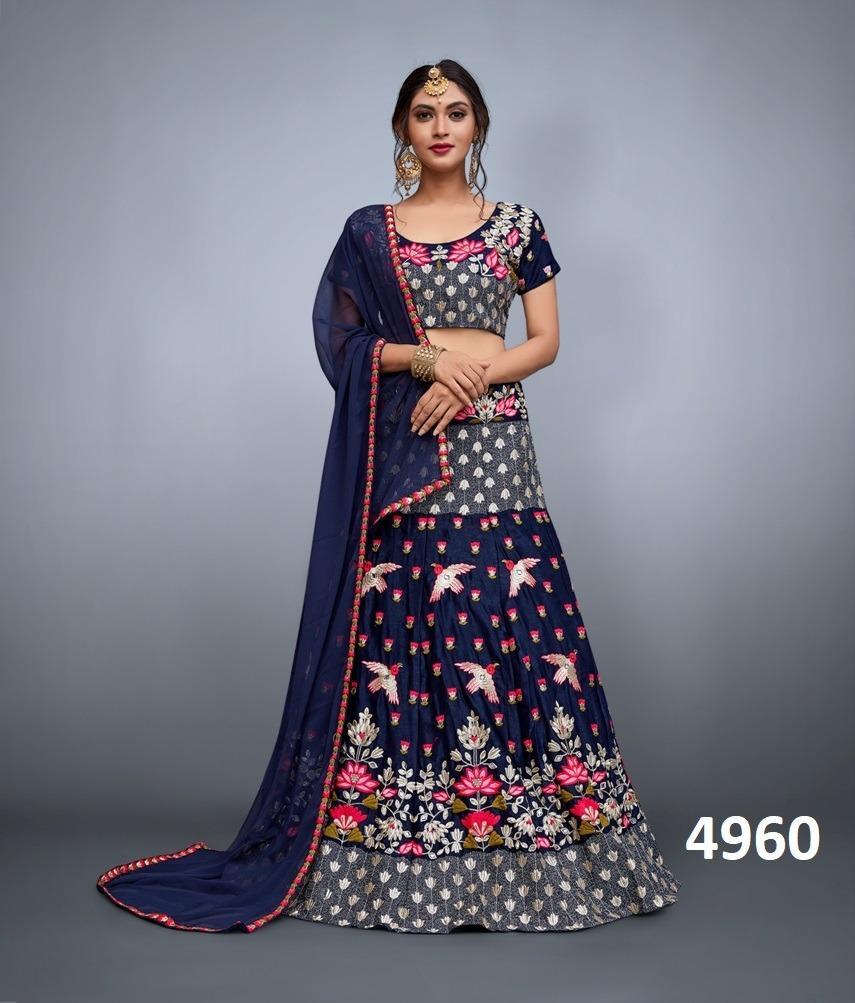 Charismatic heavy embroidered wedding wear lehenga choli products