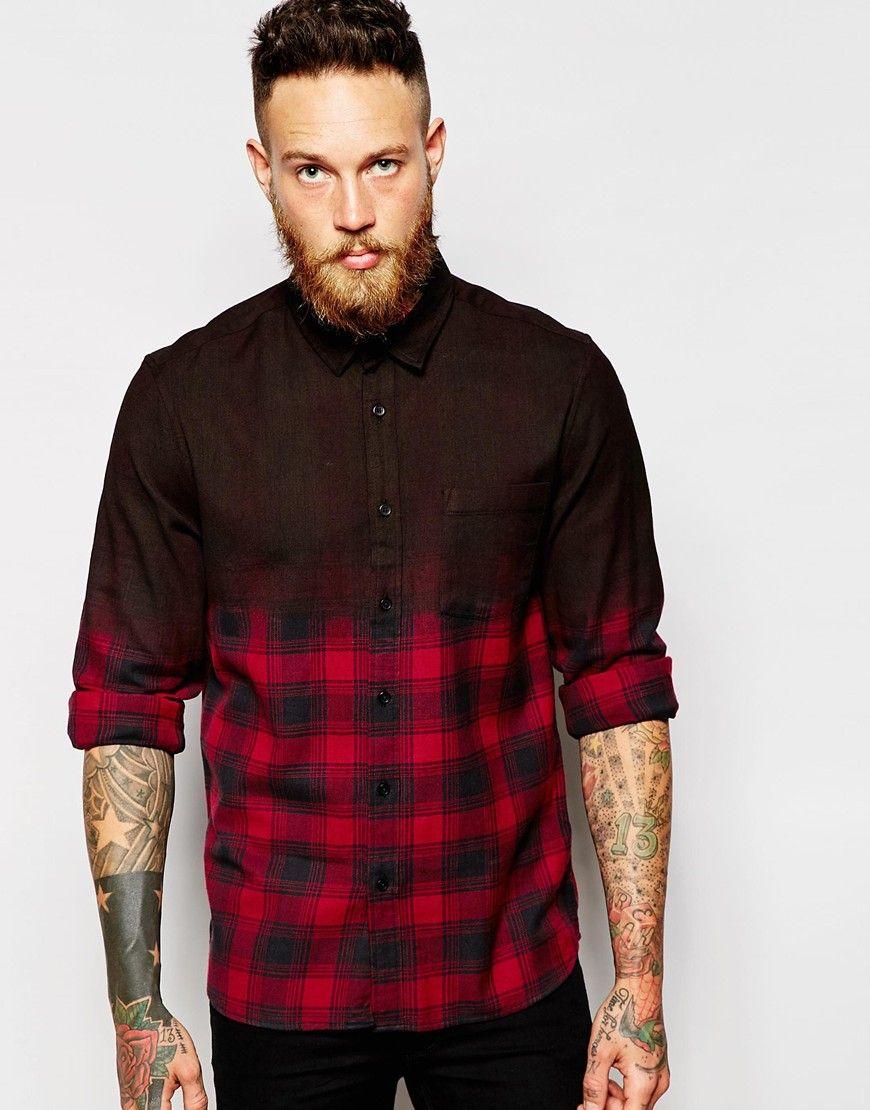 Image 1 ofASOS Check Shirt In Long Sleeve
