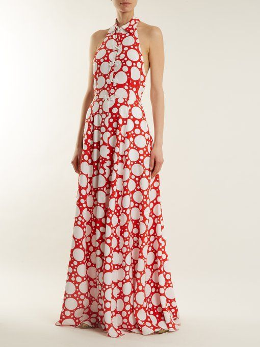 Fortuna polka-dot print crepe de Chine dress Rebecca de Ravenel Cheap Sale Deals fXU9d0