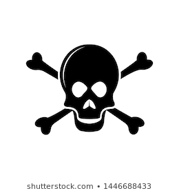 Skull And Cross Bones Icon Vector Poison Or Toxic In Simple Sign Trendy Symbol For Design And Websites Presentation Or Mob Simple Signs Skull Cross Bones