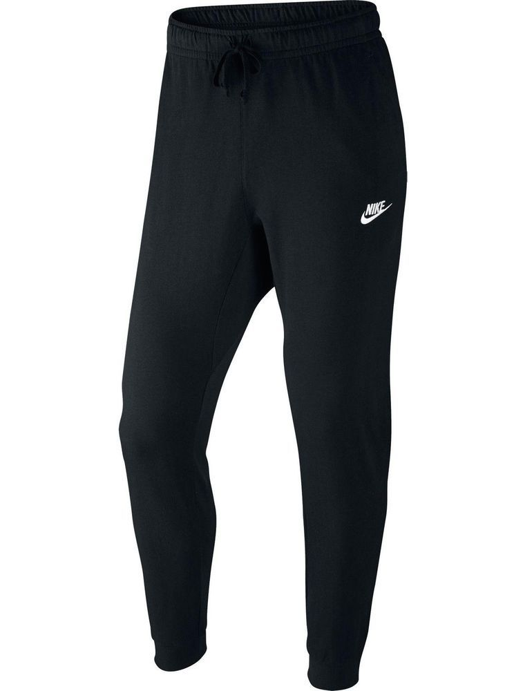 Nike NSW Mens Cuffed Jogger Cotton Jersey Light Sweatpants Black 804461-010  XL  Nike  Pants 5d509b33a4