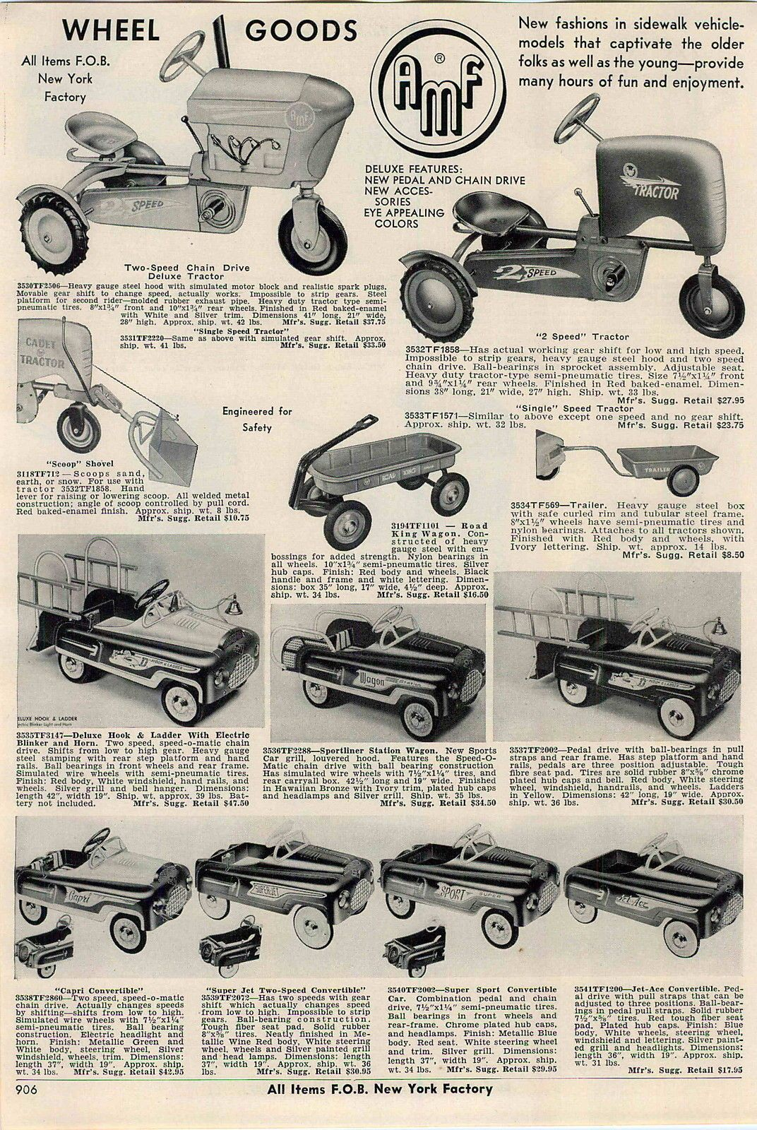 1956 Ad AMF Pedal Cars Farm Tractor | Pedal Cars | Pinterest | Pedal ...