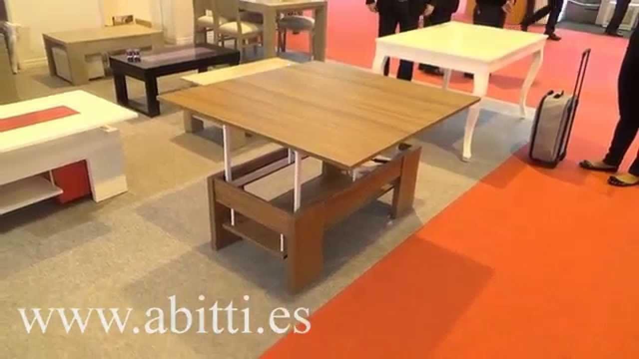 Mesa De Centro Convertible A Mesa Comedor Salon Varios Colores  # Muebles Covertibles