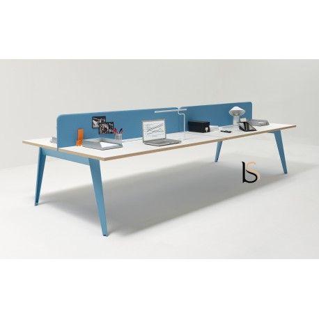 Bureau bench 4 personnes Pigreco Martex Bureau bench pour
