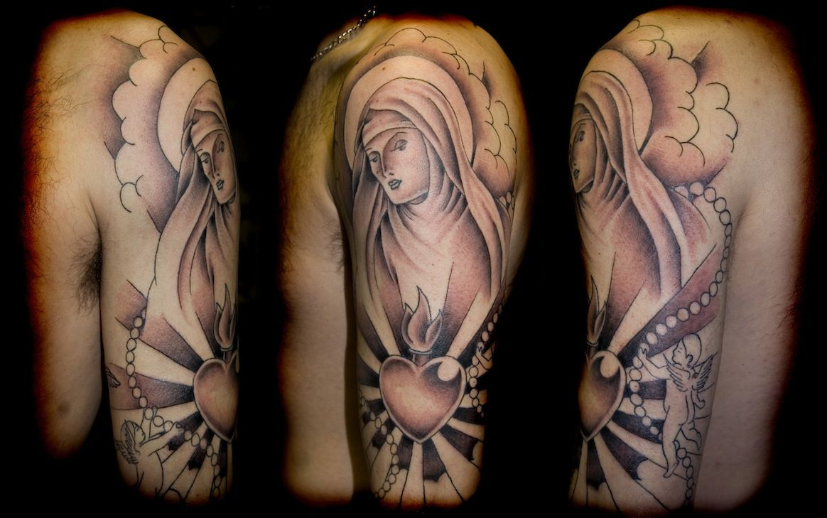 sleeve tattoo designs | Religious Sleeve Tattoos – Designs ...