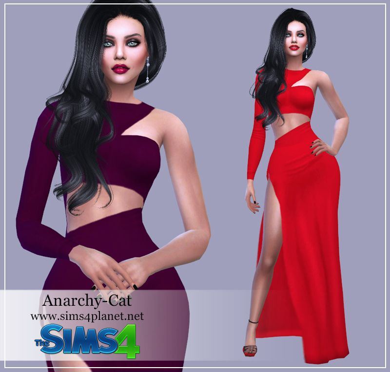 Dress #2 by Anarchy-Cat | Sims 4 CC | Sims 4 dresses, Sims, Sims 4