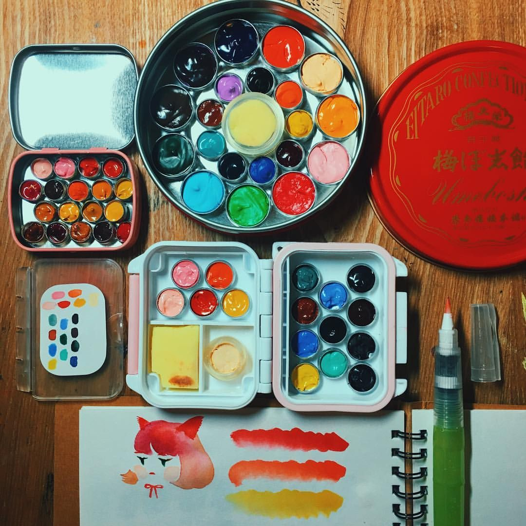 My Diy Watercolor Travel Kits Check The Previous Post For