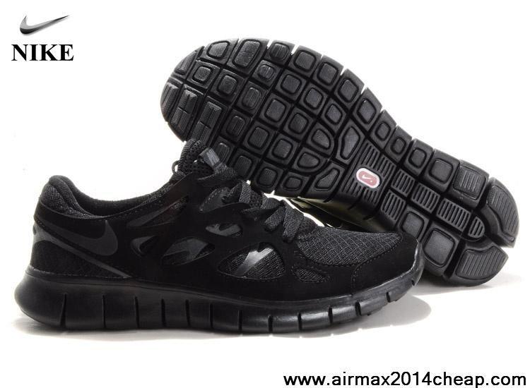 747094e90f4e Sale Cheap 443815-010 All Black Shoes Nike Free Run 2 Size 12 Lightweight  Shoes