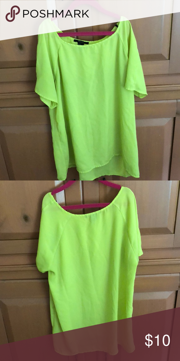 e0a06a30f7c Blouse Neon yellow sheer blouse. Super light and air flows right through  it. Can make it work for either casual or formal wear. Forever 21 Tops  Blouses