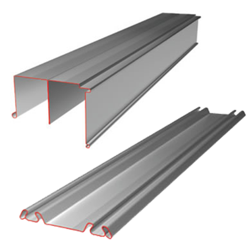 Minimalist Aluminium Sliding Wardrobe Door Track Set Idee