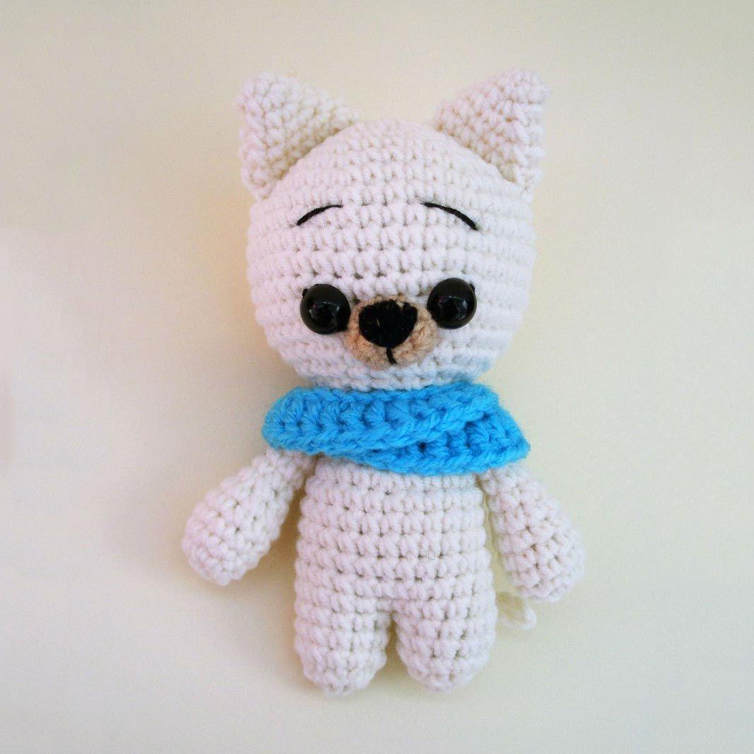 Crochet Cat KeychainHandmade Gift for Cat LoverAnimal by Etilinki ... | 1067x1067