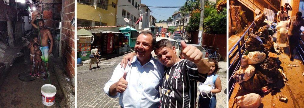 Santa Marta é maquiado para gravação de Cabral