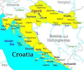 Kroatie Croatia Croatia Map Korcula Croatia