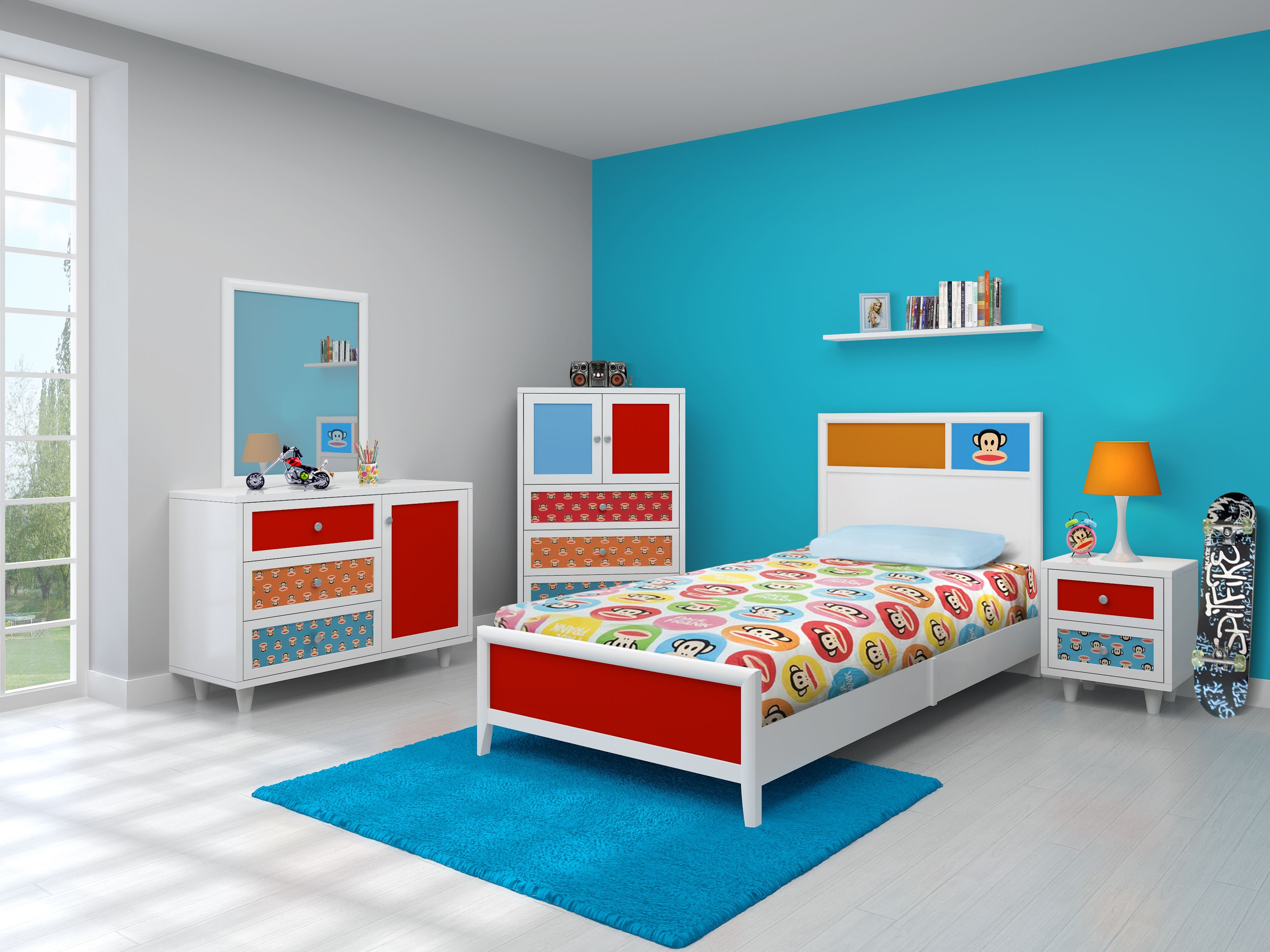 Paul Frank Bedroom ON SALE NOW, $488 for the twin size bed ...