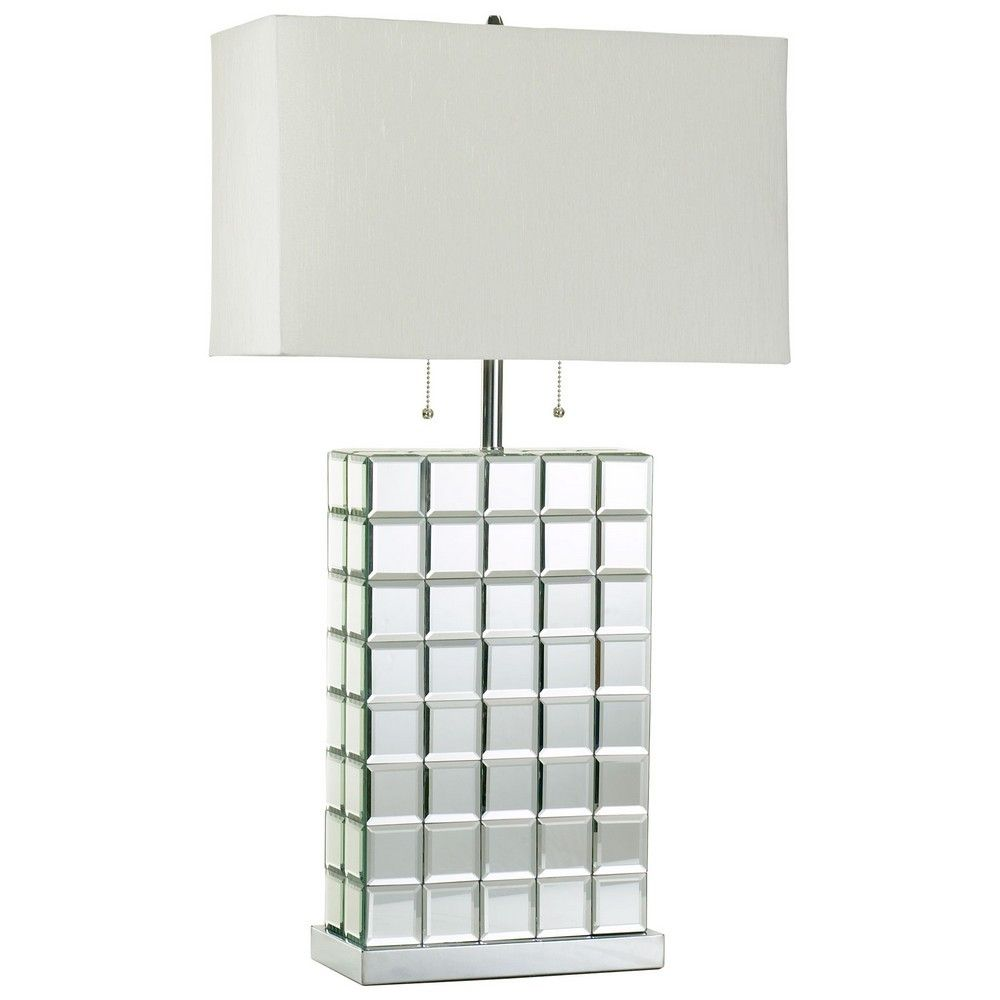 Modern glass table lamp - Beautiful Mosaic Mirror Tile Lamp Http Www Viraldecor Com