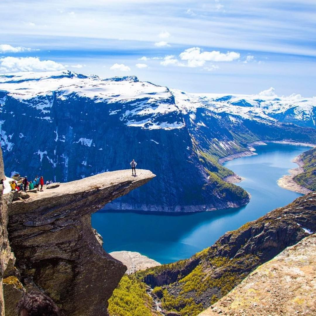 The Beautiful And Breathtaking Landscape Nature At Trolltunga Norway Pic By Vamospraonde GoPro