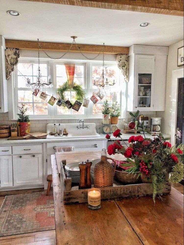farmhouse kitchen towels christmas