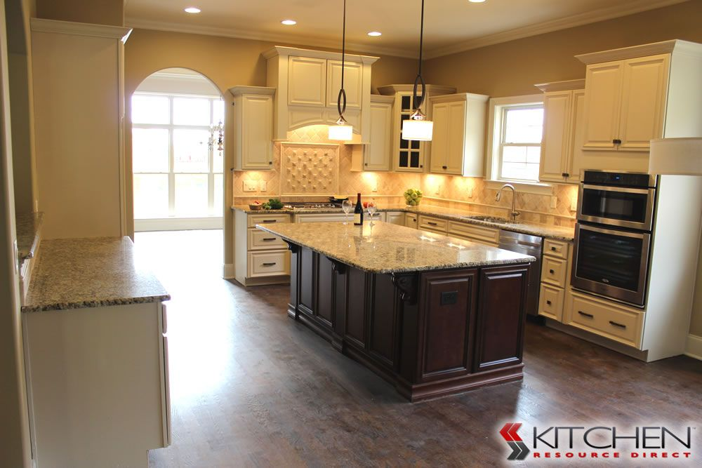 Beautiful Kitchen Made Of All Ready To Assemble Cabinets; Titusville RTA  Freeport Maple Vanilla