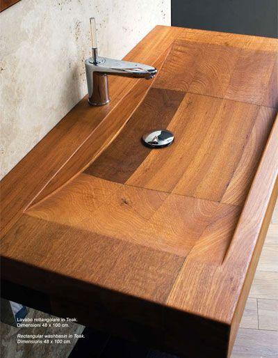 encuentra este pin y muchos ms en baos con diseo de anaviano bacha de madera para
