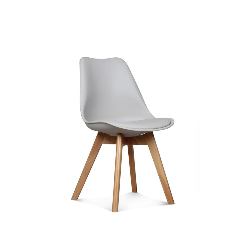 chaise scandinave - loumi taupe | taupe