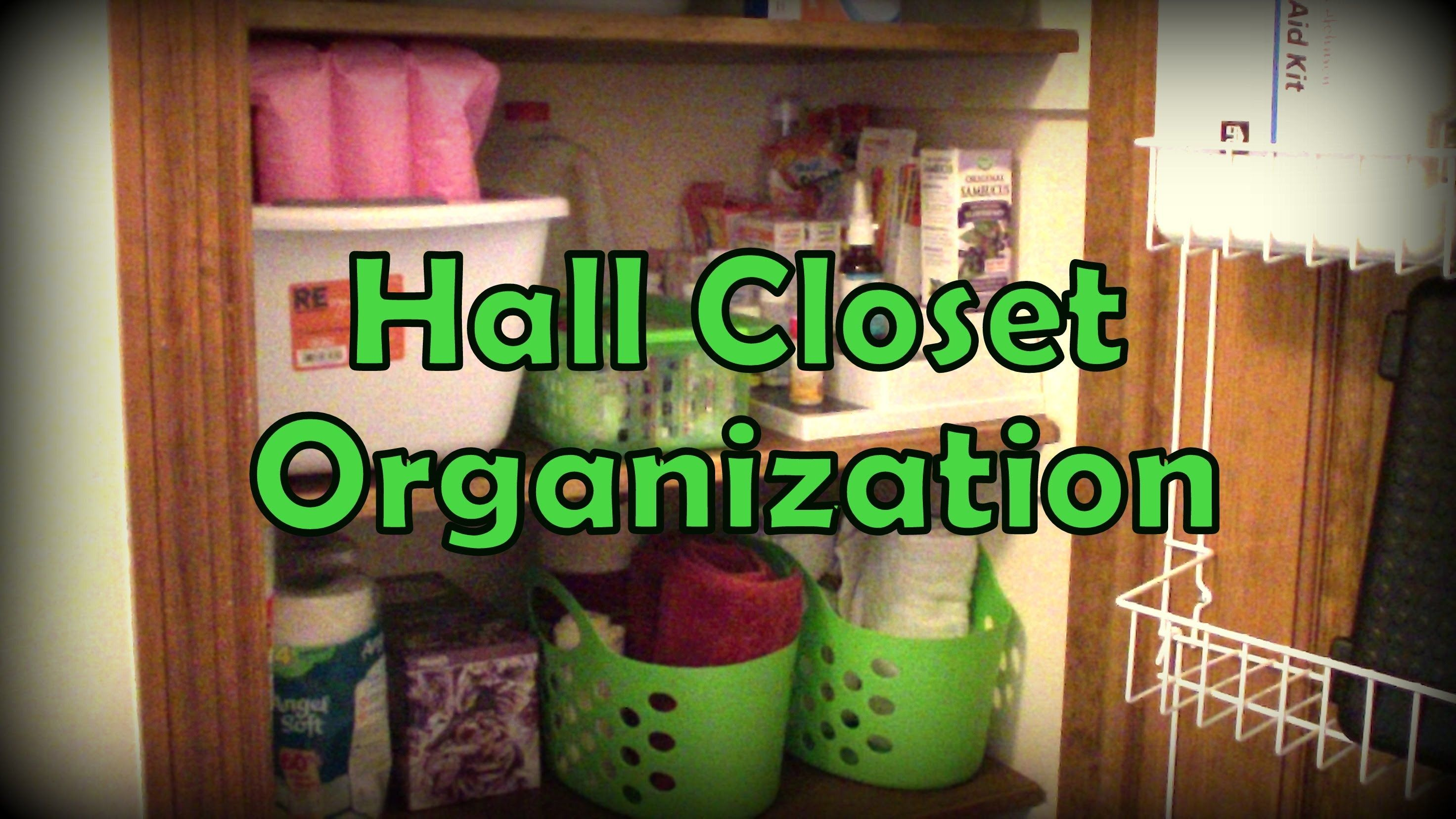 Organization   Hall Closet (Using Dollar Tree Items!)