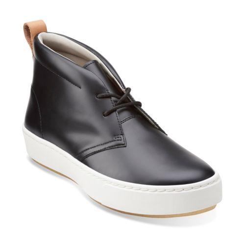 Clarks Originals Priddy Desert Womens Flats Black Leather