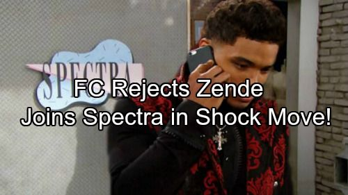 The Bold and the Beautiful (B&B) spoilers tease that Zende (Rome Flynn) will have some new goals. He's been doing some photography at Forrester Creations...