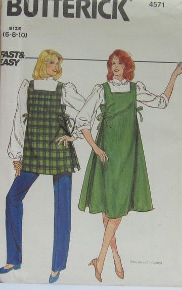 2798153a429 House of Sewing Patterns - Butterick 4571 B 6-10 MISSES MATERNITY JUMPER  TOP AND PANTS