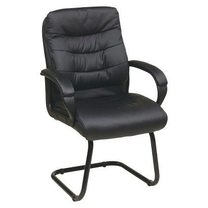 Guest Office Chair With Back Padding