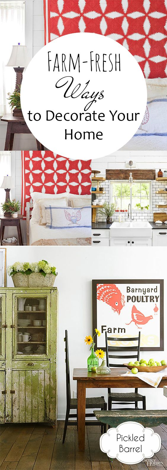 Farm-Fresh Ways to Decorate Your Home | Pinterest | Decorating ...