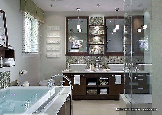 stunning spa bathrooms httpwwwbathroom designs ideasspa bathroomhtml dream - Spa Bathroom Ideas