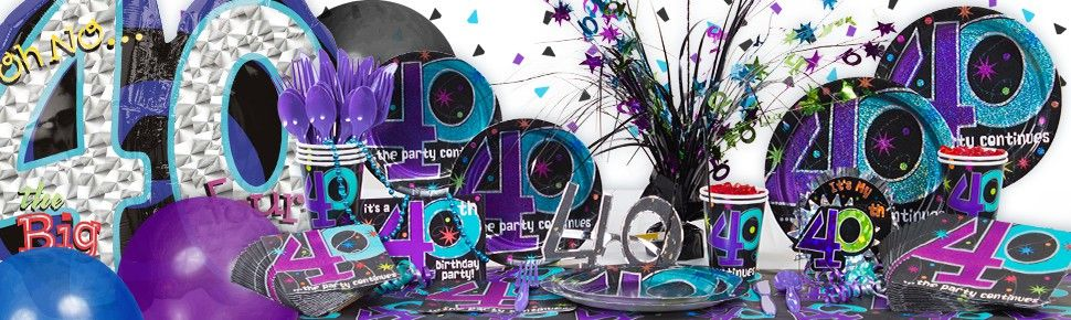 40th Birthday Party Centerpiece Ideas The Party Continues 40th