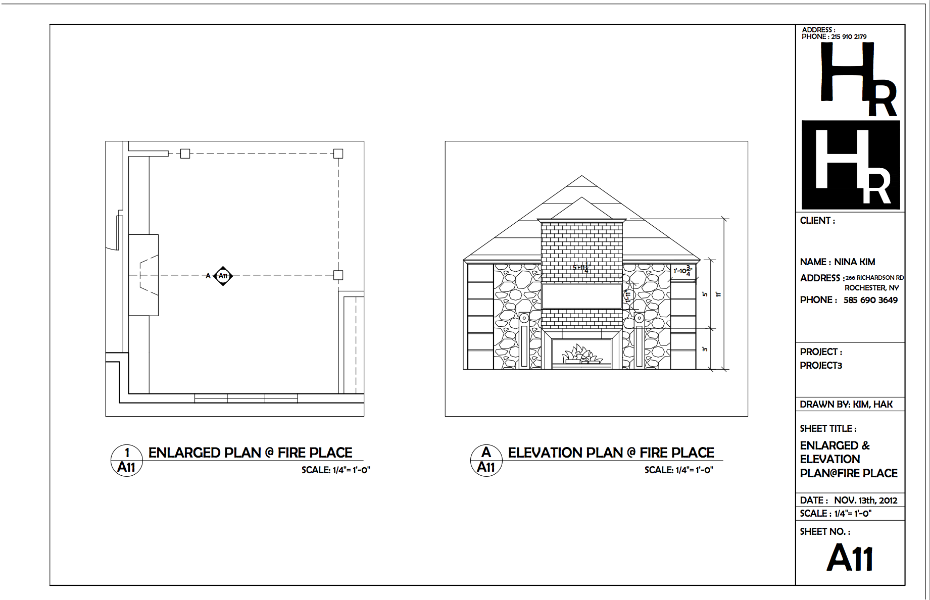 Stone Wall Elevation Cad : Fireplace elevation plan portfolio autocad pinterest