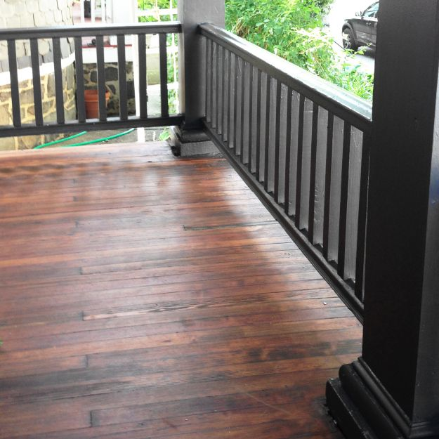 DIY Remove Paint U0026 Refinish Front Porch Wood Flooring U2013 Before U0026 After    Stripping Paint