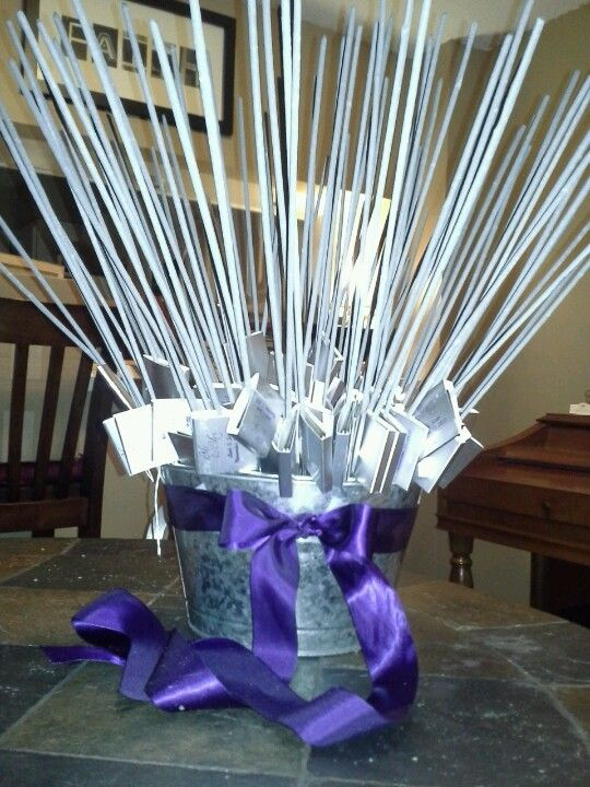 Sparkler bouquet (sparklers for when the bride and groom leave, instead of rice)