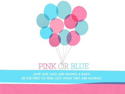 Balloon Reveal gender reveal party invite by Smilebox This gender – Gender Reveal Party Invitations