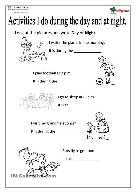 Day And Night Night Day Writing