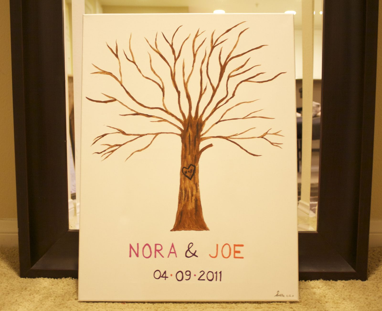 Do it yourself wedding thumbprint tree guest book wedding do it yourself wedding thumbprint tree guest book solutioingenieria Choice Image