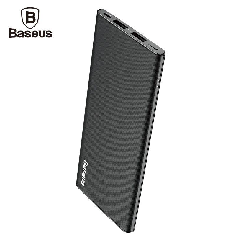 b92d70fbf1314c Baseus 10000mAh Power Bank For iPhone X 8 7 6 6S Ultra Thin Dual USB  Powerbank For Xiaomi Mobile Phone External Battery Charger Price: 34.72 &  FREE Shipping ...