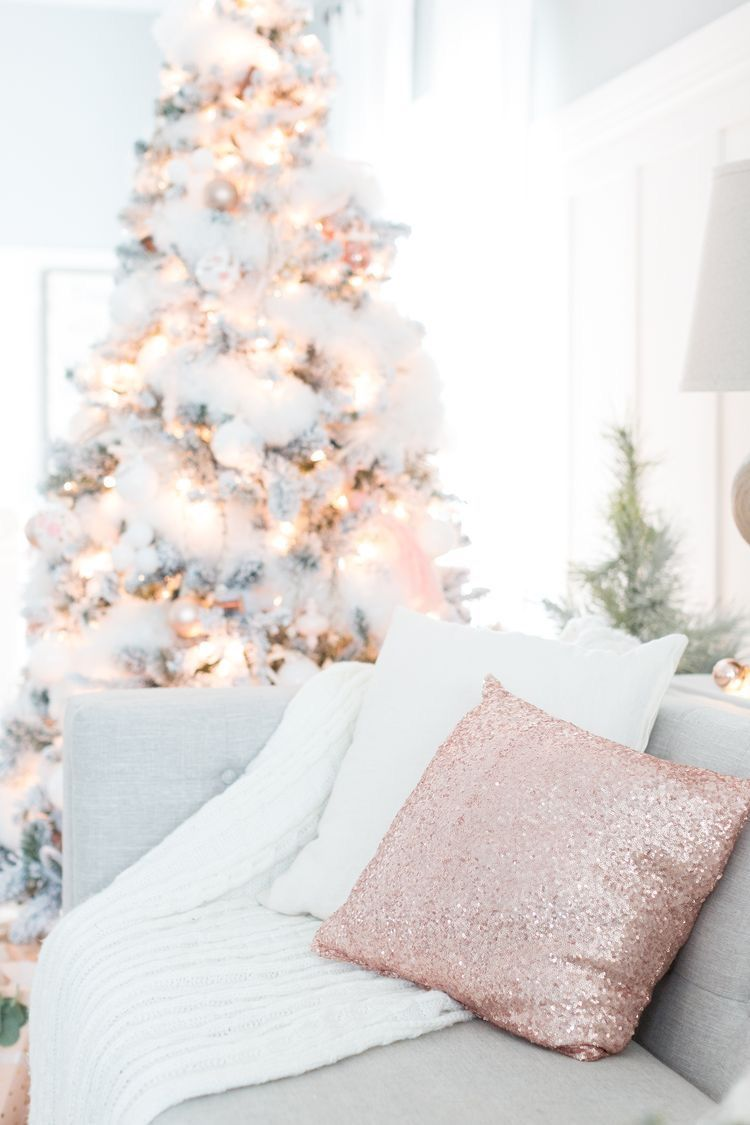 Pretty pink Christmas home decor | christmas tree | festive ...