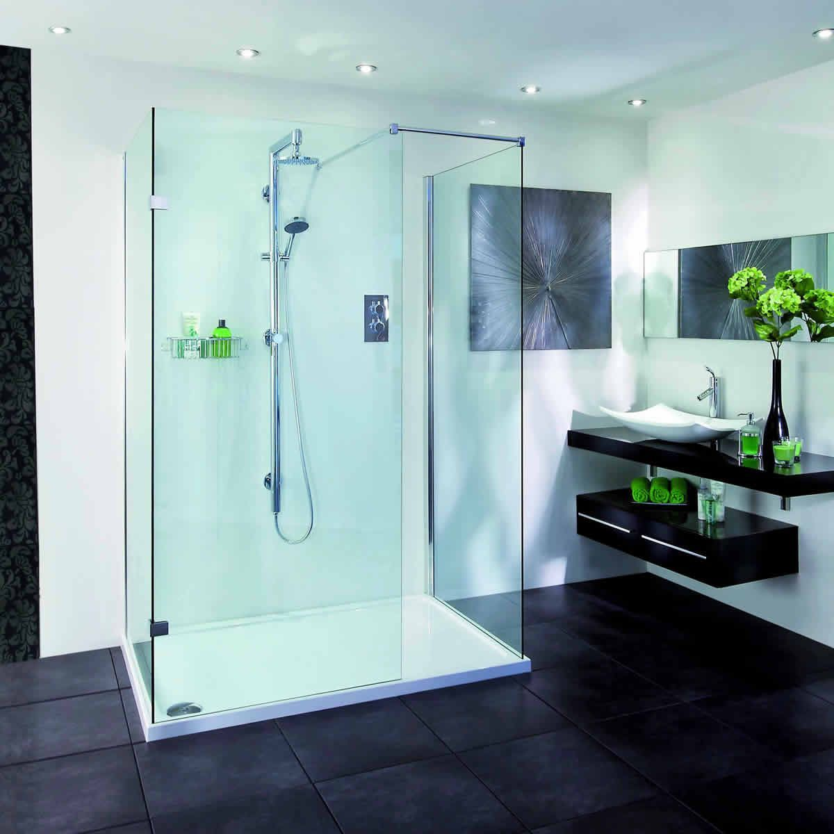Aqata Spectra Walk-In 3 sided Shower Enclosure SP415 | Shower ...