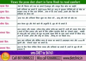 Pcos Diet Chart In Hindi  Diet Clinic  Gurgaon