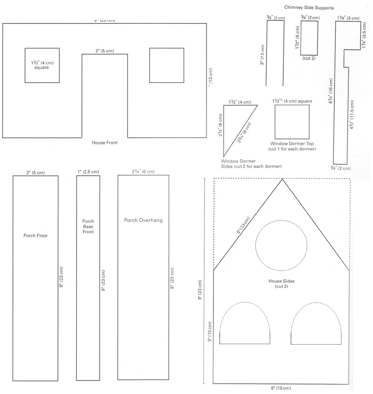 Printable Gingerbread House Patterns Mansion Gingerbread House