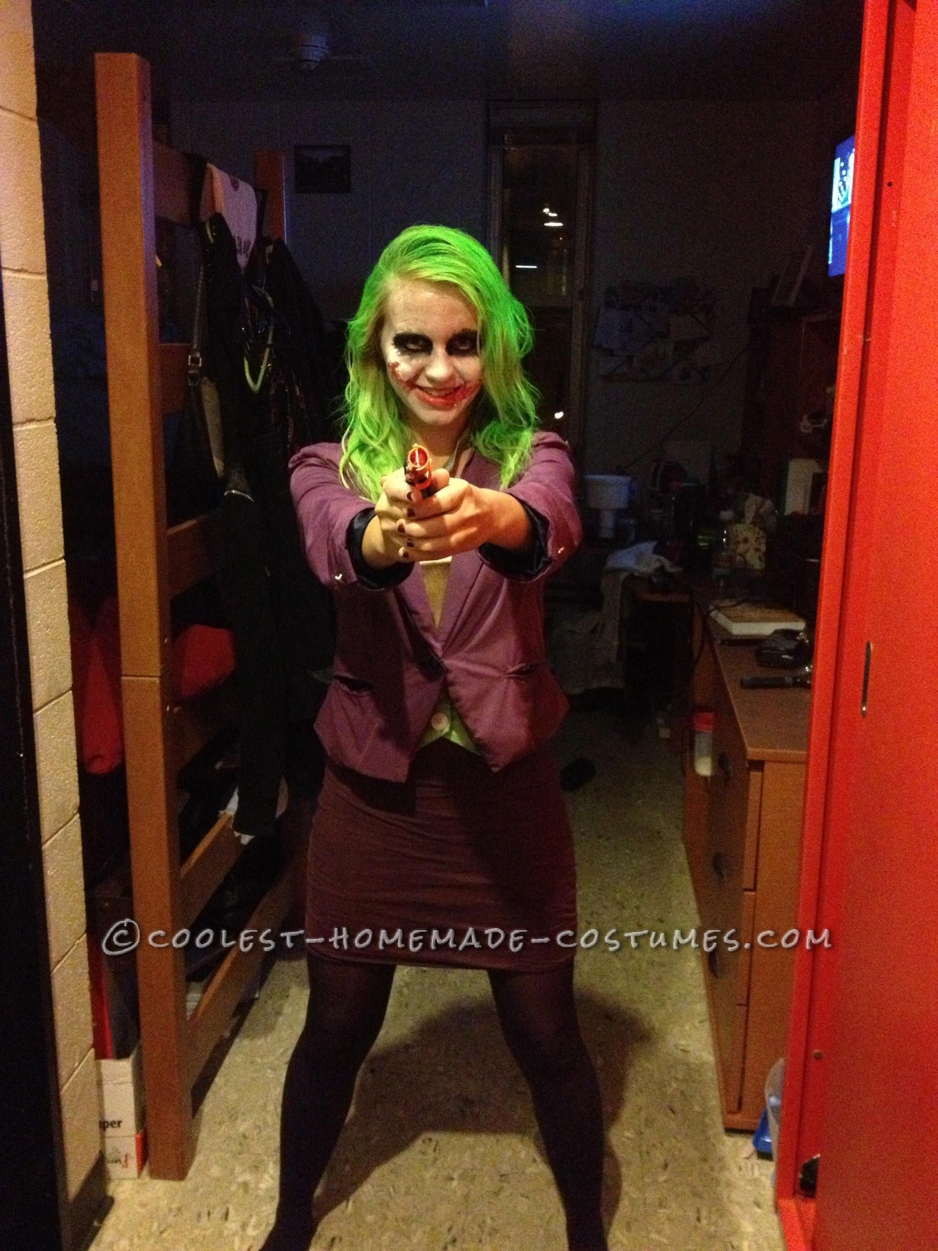 coolest homemade joker halloween costume | coolest homemade costumes